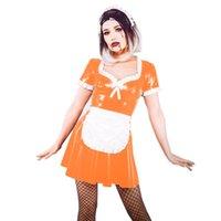 Plus Size Sweet Lolita Bowknot Kleid Nette Rüsche Maid Outfit Sexy Mädchen Cosplay A-Linie Minikleid Bühne Performance Uniform