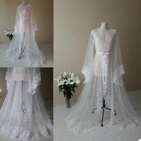 Wraps & Jackets Elegant Wedding Night Dress For Po Shoot Illusion Tulle Robe Maternity Dressing Gown Women Robes Custom Made Sleepwear