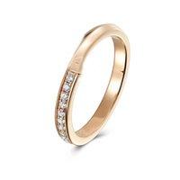 Charme de moda 925 esterlina anel de prata amor jóias anéis exteriores com diamantes e caixa de presente requintada