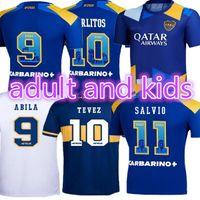 20 21 Boca Juniors Juniors Jersey Carlitos Maradona Tevez De Rossi Terceiro Tailândia Camisa de Futebol Homens e Crianças Conjuntos Uniforme