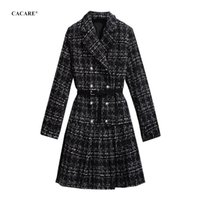 Élégant manteau de laine coréenne coréenne femme automne hiver avec col en fourrure véritable cuir de laine de laine de laine de laine dame de la femme F0225