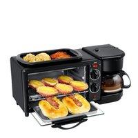 Elektrik Tavaya DMWD 3 1 Kahvaltı Makinesi 220 V Tost Makinesi Fırın Ev Kahve Makinesi Pizza Yumurta Tart Kızartma Pan Ekmek