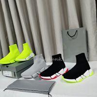 Erkek Kadın Tasarımcılar Çorap Rahat Ayakkabılar Hız Sneakers 2.0 BalencegaGA Moda Düz Çorap Botları Hız Sneaker Sneakers Runner Trainers Clearsole Fluo