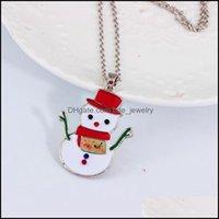 المعلقات JewelryTrendy زينة زخرفة عيد الميلاد لطيف شجرة عيد الميلاد سانتا كلوز ثلج قلادة قلادة قلادة للنساء الفتيات الأزياء والمجوهرات ن