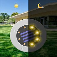 Solar Lamps 8 16LED Light Outdoors Garden Lawn Yard Led Night Waterproof PathWay Floor Luces Solares Para Exterior
