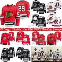 Chicago Blackhawks Jersey 29 Marc-Andre Fleury 4 Seth Jones19 Jonathan Toovs 88 Patrick Kane 00 Clary Griswold 8 Dominik Kubalik Hockey Jerseys