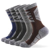 new Men Sports Socks Professional Ski Socks Thick Knit Winter Athletic Fitness Breathable Quick Dry 5pairs