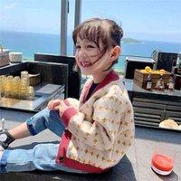 Vidmid Bebek Kazak Yürüyor Bebek Kız Örme Kıyafet Giysileri Yay Moda Çocuk Hırka Ceket Giyim P324 210907