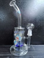 Glass recycler water bong tornado bongs water pipes unique water pipe heady dab rigs hookahs Shisha with nail dome loveyouglass shop