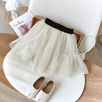 Kids Skirts Girls Tiered Dress Baby Clothes Children Clothing Summer Chiffon Pettiskirt Princess Fashion Short 2-6Y B5400