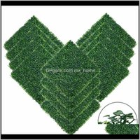 Festive Party Supplies Home Garden50X50Cm Artificial Boxwood Hedge Wall Panels Topiary Grass Privacy Screen Uv Protected Backdrop For Golf De