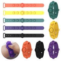 Empurre Bubble Pop Fidget Brinquedos Sensory Ring Braceletes Puzzle Press Bolhas Dedo Bolhas Esforço Pulseira Pulseira