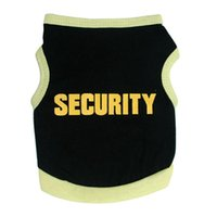 Dog Apparel Top Pet Tactical Vest T Shirt Security Small Pug Clothes Cat Puppy Letter Printed Outerwear Appare E