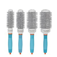 Hair Brushes Ceramic Ion Comb Professional Salon Brush Styling Hairbrush Hairdressing Round Curly Rollers Tools Blue