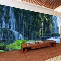 폭포 풍경 사용자 정의 3D 사진 자연 풍경 벽 벽화 데칼 홈 장식 벽지 롤 침실 벽