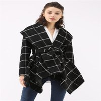 Women's Jackets Coat For Women Outerwear 2021 Printed Long Sleeve Stitching Wool Blends Spring Autumn Winter Ladies Femme Woman