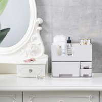 Storage Boxes & Bins Makeup Organizer Large Capacity Cosmetic Detachable Brush Holder Desktop Jewelry Drawers Container Stationery Case