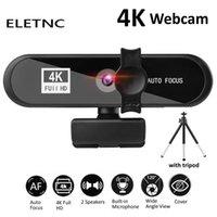 Webcam 2K 4K 1080P Full HD With Microphone Auto Focus USB Web Camera Meeting Laptop Desktop PC Computer Mini Cam Accessories