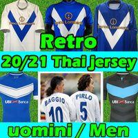Baggio Pirlo Brescia Retro Soccer Jersey 2003 2004 Vintage classique 2021 2020 Brescia Calcio F.Aye Donnarumma Spalek Hommes Kits Football Shirts