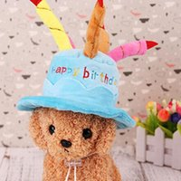 CAPS для собак Pet Cat Dog Dointh Hat с тортными свечами дизайн вечеринка костюм головные уборы