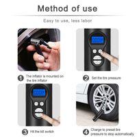 (مضخة نفخ عالية الطاقة المحمولة الكهربائية 12 فولت نظام ملء الغاز لاسلكية لإطارات السيارات