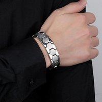 Braccialetti in acciaio in acciaio da uomo con braccialetto per la protezione del magnete per la protezione del magnete per il business di viaggio K2, catena