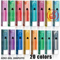 100% original hzko idol max 5% cigarrillos PEN 2000 Puffs Pre-cobrado 1100mAh 6.5ml Power 7W-12W 20Colors vs Geek Bar Bang XXL GunnPod