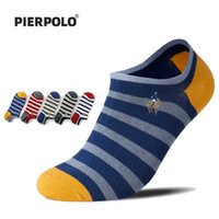 PIER POLO Men Socks New Fashion High Quality Brand Striped Cotton Casual Men's Socks Embroidery Summer Socks Happy 5Pairs lot G0918