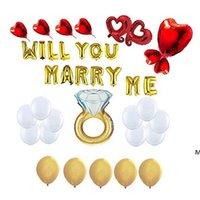 الألومنيوم فيلم بالونات إلكتروني الحب بالون مجموعة الأحبة يوم حزب ديكورات الإمدادات الزفاف الديكور الدعائم مجموعة HWE6646