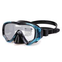 As máscaras de mergulho infantil são seladas de silicone e impermeáveis com lente única