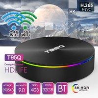 T95Q Android 9.0 TV Box 4GB + 32GB / 64GB AMLOGIC S905X3 رباعية النواة المزدوج 2.4G5GHZ WIFI BT PK X96 Air H96 MAX