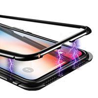 5 pcs Metal Magnetic Adsorption Case Temperado Vidro Rígido Revestido ímã Importante Capa Para Huawei P40 Pro P30 Lite Mate 30 20 x