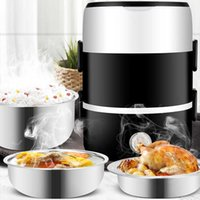 220V 2 in 1 food heater, container vaporizer, mini rice cooker, office and student use, stainless steel electric cold plate set J0531