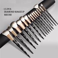15pcs lot Diamond Makeup Brushes Set Premium Synthetic Foundation Powder Concealers Eye Shadows Brush Maquiagem