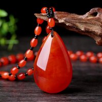Chains Natural Baltic Amber Pendant Necklace Women Men Fashion Jewellery Charms Sweater Chain Necklaces Honey Wax Lucky Amulet Gifts