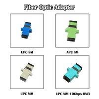 Faseroptikausrüstung SC-Adapter 50 Stück weiblicher Koppler UPC / APC SM / MM Einzel-Multi-Modus FTTH Simplex