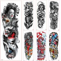 Grande braccio manica tatuaggio rosa sternum orologio impermeabile tatuaggio temporaneo adesivo rosso bellezza ragazza piena volpe fiore tatoo donne
