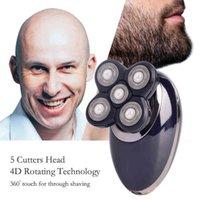 3in1 Professional Electric Rasaver USB ricaricabile per uomo lavabile Cinque teste galleggianti Rasors clipper per capelli tagliacale per capelli trimmer per capelli Q0524