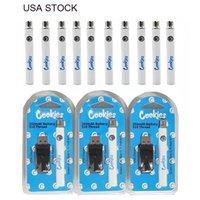 クッキーヴェツバッテリー米国ストック510スレッド電池充電器キット予熱蒸気350mAh可変電圧調節可能な電池の梱包高速出荷