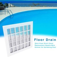 Pool & Accessories 30cm Floor Drain Cover Colander For Swimming Shower Waste Drainer Bathroom Kitchen Replacement Square Main
