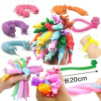 Colorful Unicorn Dog Caterpillar Stretchy Strings Sensory Toys For Children Adults Anti Anxiety Relaxing Autism Resistance Squeeze Pull Noodle rope