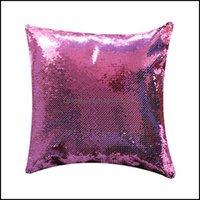 Caso Biancheria da letto Forniture Tessili Casa GardenSubLimation Mermaid Pillowcases Thransfer Transfer Cuscino Cuscino Dye Blank Sequin Fodera SE