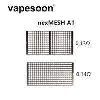 NexMesh A1 0.13OHM 0.14ohm Mesh Bobin Isıtma Telleri 17 * 8.5mm (10 adet / paket) Profil RDTA M RTA için DIY Buharlaştırıcı Atomizer