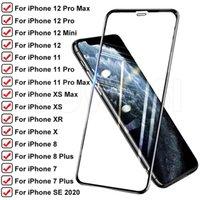 Protecteurs en verre trempé complet pour iPhone11 6S 7 8 x XS Max XR iPhone SE2 anti-espion protecteur haute définition