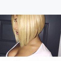 1b блондинка полное кружева человеческие волосы парики темные корни 1b 613 кружевной фронт парик двух тон боба для чернокожих женщин