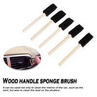 5Pcs set Auto Detailing Blinds Duster Brush Car-styling Cleaning Supplies Black Sponge Air Conditioner Vent Car Grille