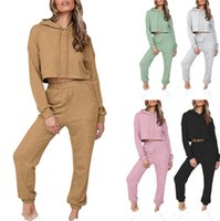 Women 2 Pieces Tracksuits Hooded Sweatshirts Sport Suits Slim for Lady Spring Autumn Pullover Tops and Pants Jogger Hoodie Sets Elastic Leg Circumference S-2XL