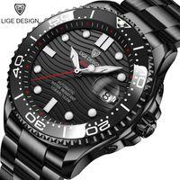 Spor İzle Lige Üst Erkekler Saatler Otomatik Mekanik Paslanmaz Çelik Su Geçirmez Reloj Hombre Saatı