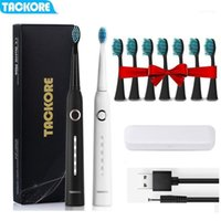 FACKORE Sonic Elektrikli Diş Fırçası USB Şarj Edilebilir Akıllı Yetişkin Su Geçirmez IPX7 Zamanlayıcı Fırçası 5 Mod Şarj11
