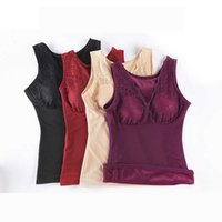 Winter Ladies Body Shapers Body Slim Thermal Underwear Lace Tank tops Plus Size Women Fleece Lined Padded Cami Lingerie Thermal Layer Shirt